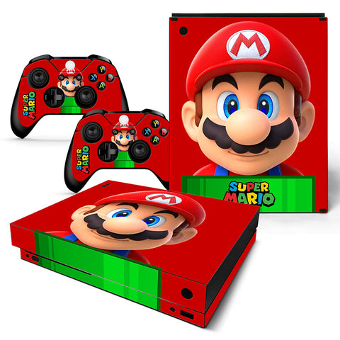 Actionfiguresale Super Mario Vinyl Skin Sticker Protector for Xbox One X