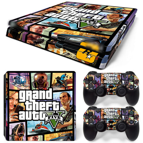 Actionfiguresale Grand theft autov  For PS4 Slim Skin Sticker Vinyl Cover