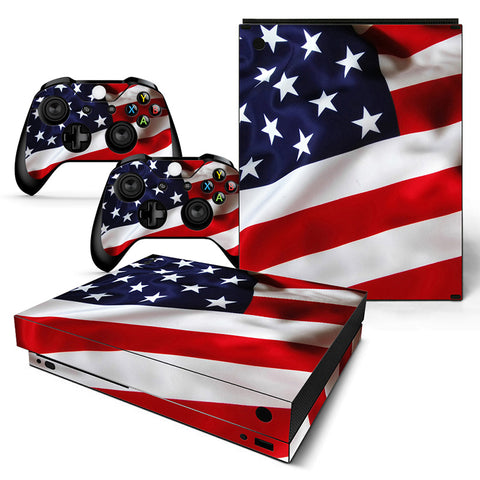 Actionfiguresale Flag Vinyl Skin Sticker Protector for Xbox One X