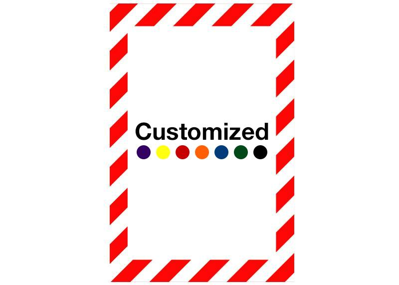Customized - Vertical Rectangle Shape Floor Sign With White Diagonals