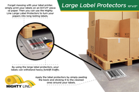 "Heavy Duty Label Protectors - 6"" x 10"" - Pack of 100"