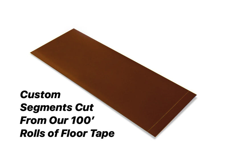 "Custom Cut Segments - 4"" BROWN Solid Color Tape - 100'  Roll"