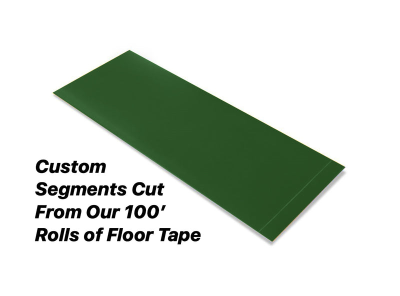 "Custom Cut Segments - 4"" GREEN Solid Color Tape - 100'  Roll"