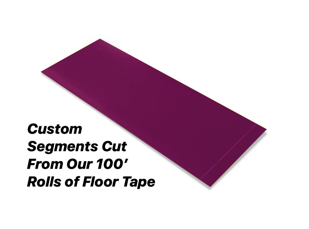 "Custom Cut Segments - 4"" PURPLE Solid Color Tape - 100'  Roll"