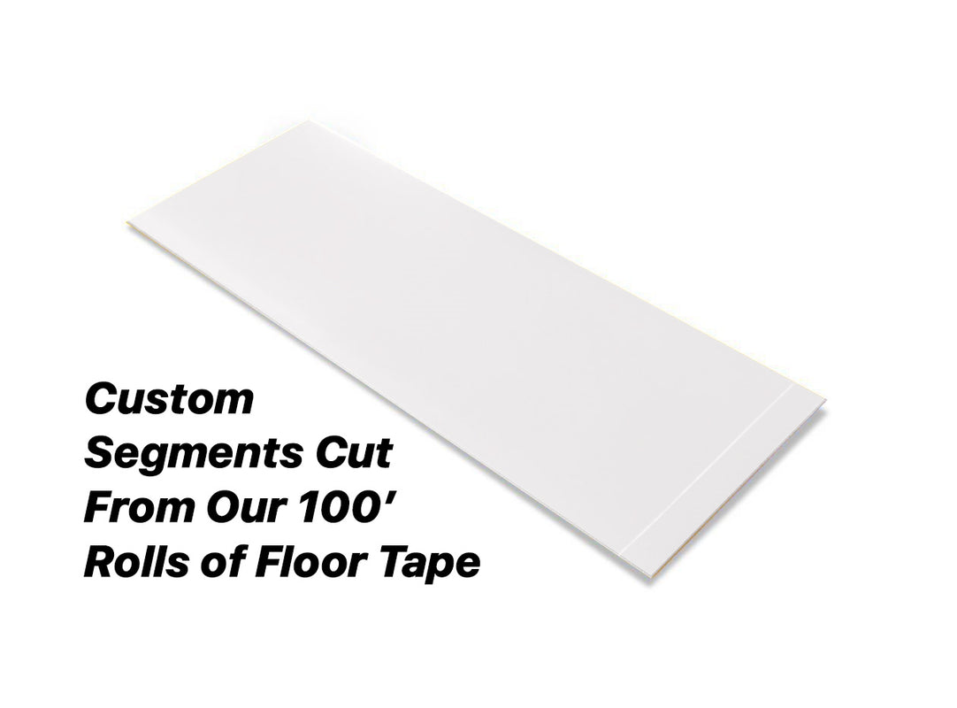 "Custom Cut Segments - 3"" WHITE Solid Color Tape - 100'  Roll"
