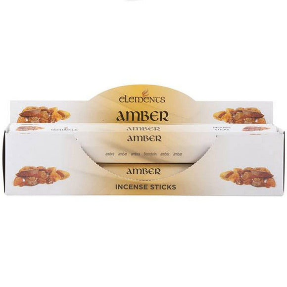 Elements Incense Sticks - Amber- 1 Pack (20 Sticks)