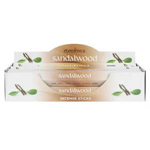 Elements Incense Sticks - Sandal Wood 1 Pack (20 Sticks)