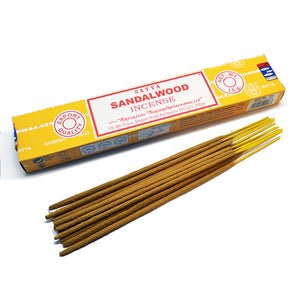 Satya - Sandalwood- 1 Pack (15 Sticks)