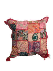 Patchwork cushion cover -Pink