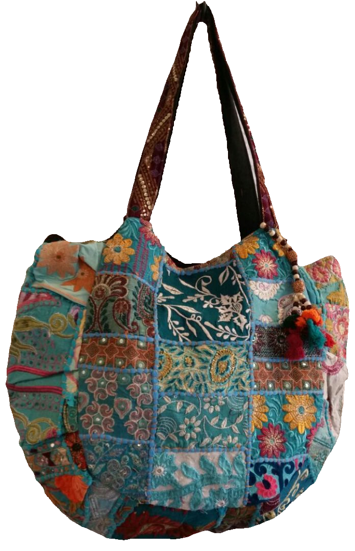 Patchwork Bag-turquoise