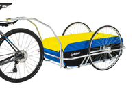 Cargo Large Bicycle Trailer: Blue/Yellow/Black