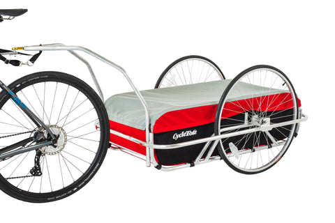 Cargo Bicycle Trailer Large: Red/Grey/Black