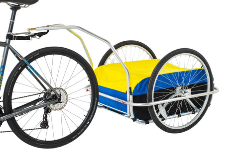 Cargo Bicycle Trailer Small: Blue/Black/Yellow