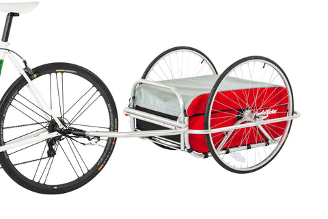 Cargo Bicycle Trailer Small: Red/Grey/Black