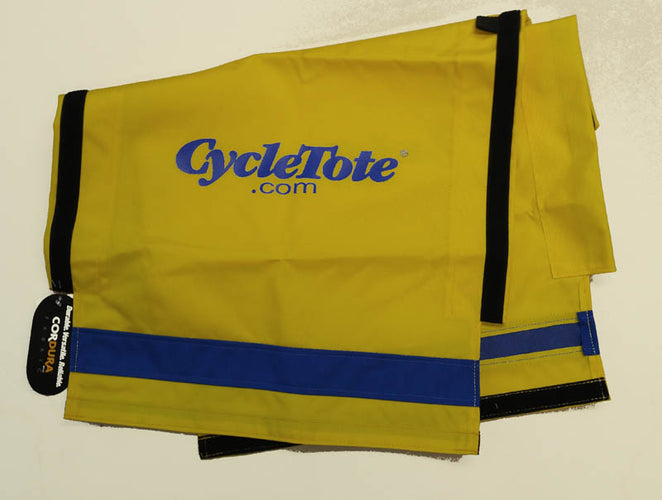 DOG TRAILER COZY: Top Canopy - Yellow/Blue