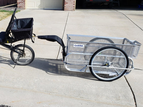 MESH BOX BICYCLE TRAILER LARGE