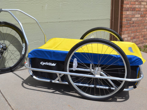 CARGO LARGE BICYCLE TRAILER : Blue/Yellow/Black