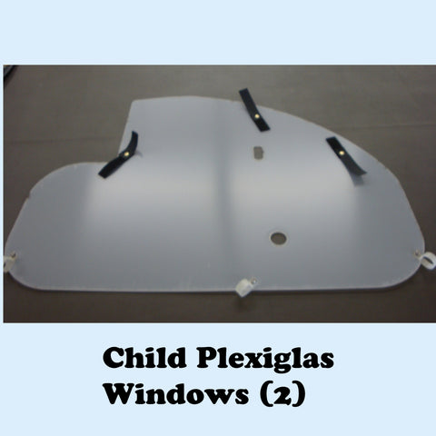 CHILD  Trailer Replacement Plexiglas Windows (2)