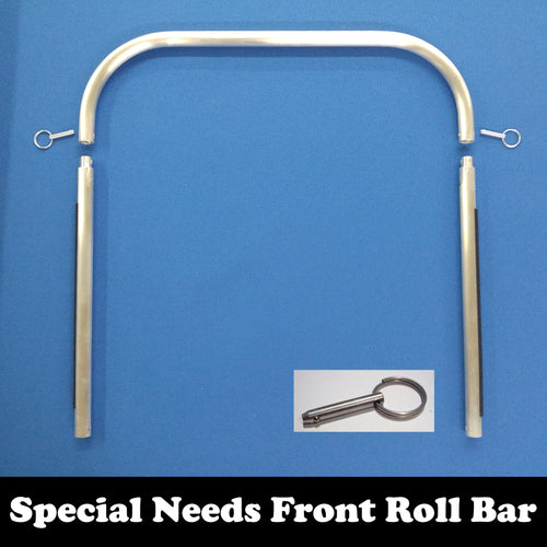 SPECIAL NEEDS TRAILER: 3-Part Front Roll Bar