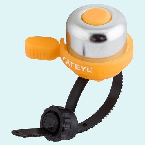 Tangerine and Silver Handlebar Bell by Cateye