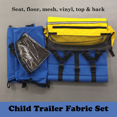 CHILD TRAILER: Fabric Set - Yellow/Blue