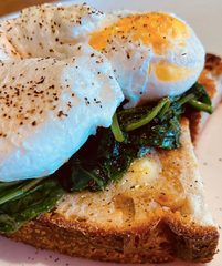 Casa Clontarf Poached Egg and Spinach Breakfast