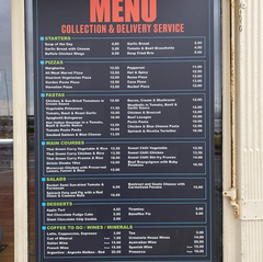 Casa Pasta Clontarf delivery menu and takeaway menu
