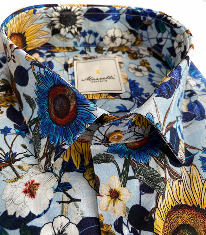 Blue Sunflower shirt from Marnelli at StylishGuy Menswear