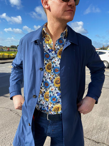 Blue Sunflower Shirt from Marnelli Ireland at StylishGuy Menswear