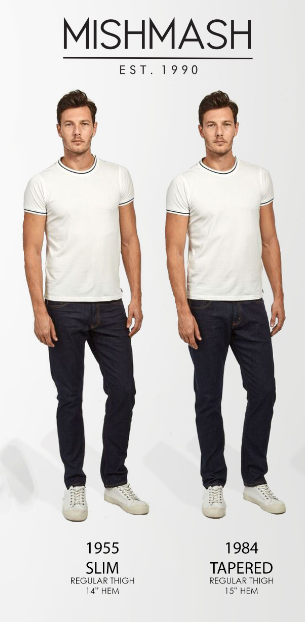 Mish Mash Jeans Size Guide