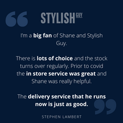 5 Star Google Review for StylishGuy Menswear Dublin Boutique