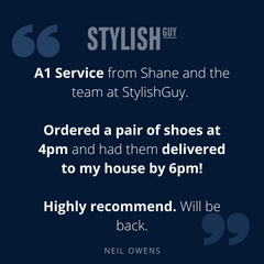 Five star review from a happy customer at StylishGuy Menswear Dublin