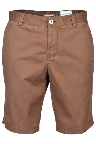 Brown Bermuda Cotton Everyday Chino Shorts from Giordano at StylishGuy Menswear