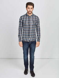 Mish Mash FLEX Dark Denim Straight Leg, Stretch Cotton Jeans at StylishGuy Men's Boutique Dublin