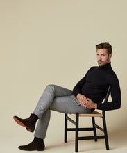 Load image into Gallery viewer, Profuomo Black Merino Roll-Neck Knit Jumper at StylishgGuy