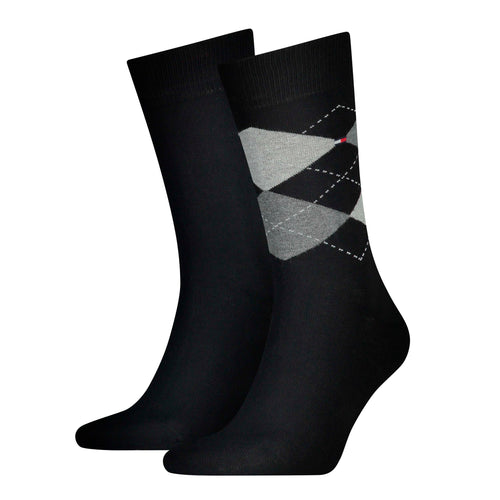 Black diamond design Tommy Hilfiger socks at StylishGuy Menswear