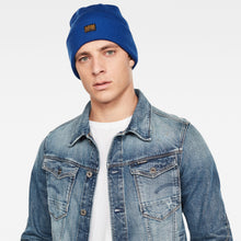 "Load image into Gallery viewer, Blue ""Effo"" Knitted Beanie from G Star Raw at StylishGuy Menswear Boutique Dublin"