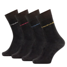 Load image into Gallery viewer, Calvin Klein black socks with multicolour logo at cuff at StylishGuy Menswear.