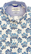 Load image into Gallery viewer, Carlos Cordoba White Shirt with Big Blue Flowers at StylishGuy Menswear
