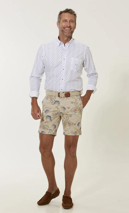Dario Beltran Off-White Pattern Shorts at StylishGuy Menswear