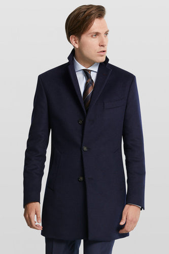 Dark Blue Wool Coat from Van Gils Fashion at StylishGuy Menswear