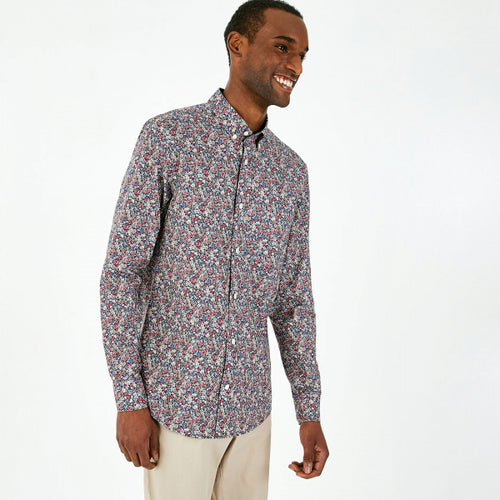 Eden Park Burgundy Floral Pima Cotton Shirt