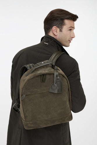 Dark Green Suede Backpack from Van Gils at StylishGuy Menswear Dublin