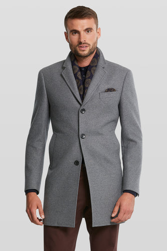 Dinal Blue Grey Wool Coat from Van Gils Fashion at StylishGuy Boutique Dublin