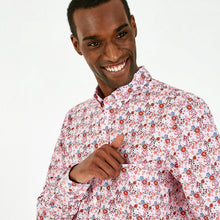 Load image into Gallery viewer, Eden Park Pink Floral Pima Cotton Shirt