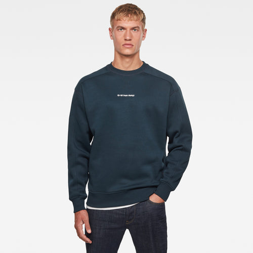 Legion Blue Crew Neck Jumper from G STAR Raw at StylishGuy Men's Boutique Dublin