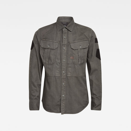 Dark Grey Lightweight Denim Arc Shirt from G Star RAW at StylishGuy Menswear