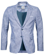 Load image into Gallery viewer, Giordano Navy and White Woven Blazer at StylishGuy Menswear