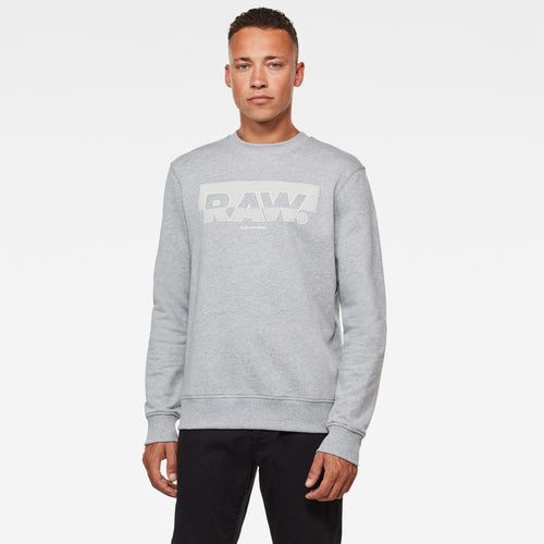 G-Star RAW Grey Logo Soft Fleeced Lined Logo Jumper at StylishGuy Men's Boutique Dublin