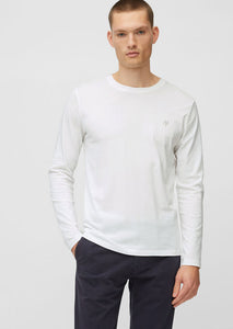Organic Cotton Long Sleeve White Top